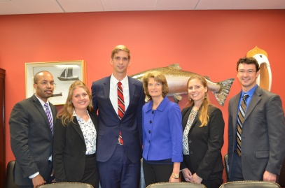 Our team with Senator Murkowski of Alaska.